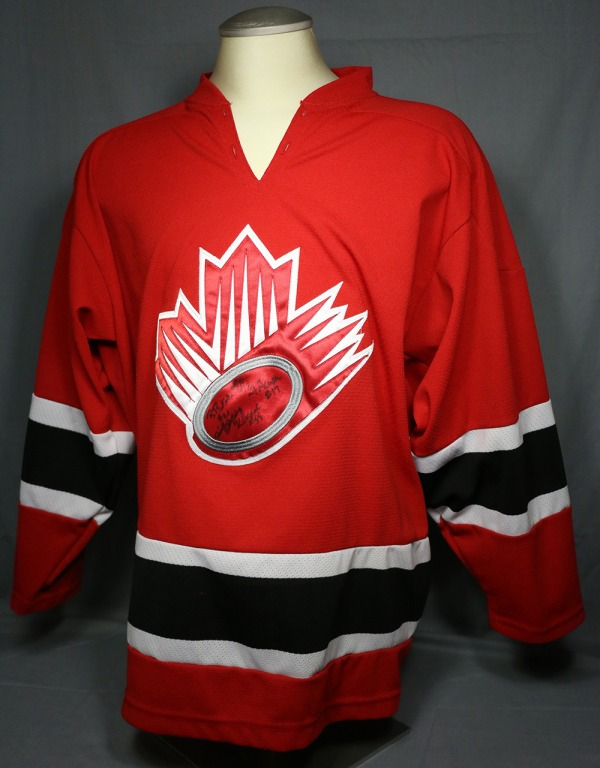 Team Canada jersey with Ringette Canada Logo on front