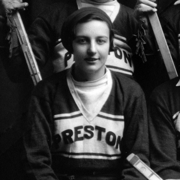 photograph of Hilda Ranscombe in Preston R jersey