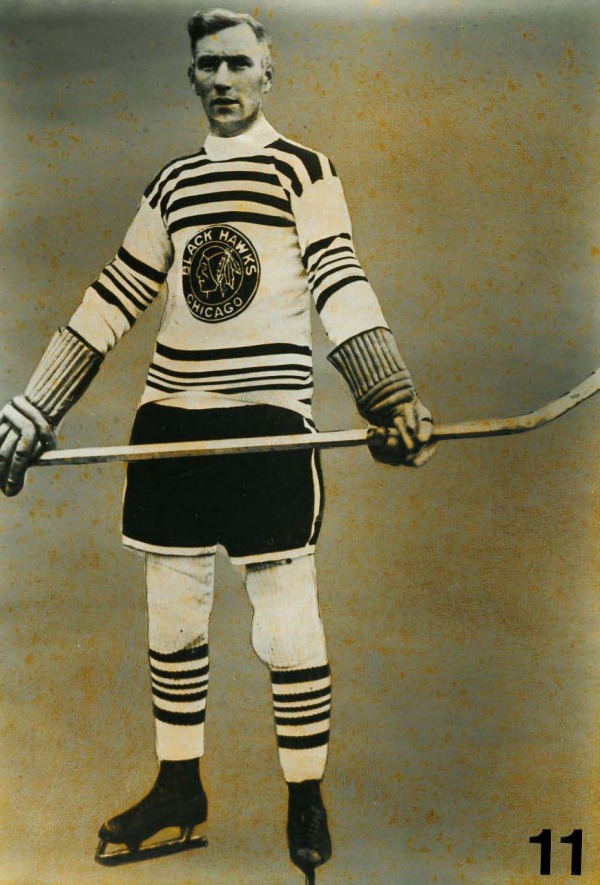 Photograph of Dick Irvin wearing hockey uniform
