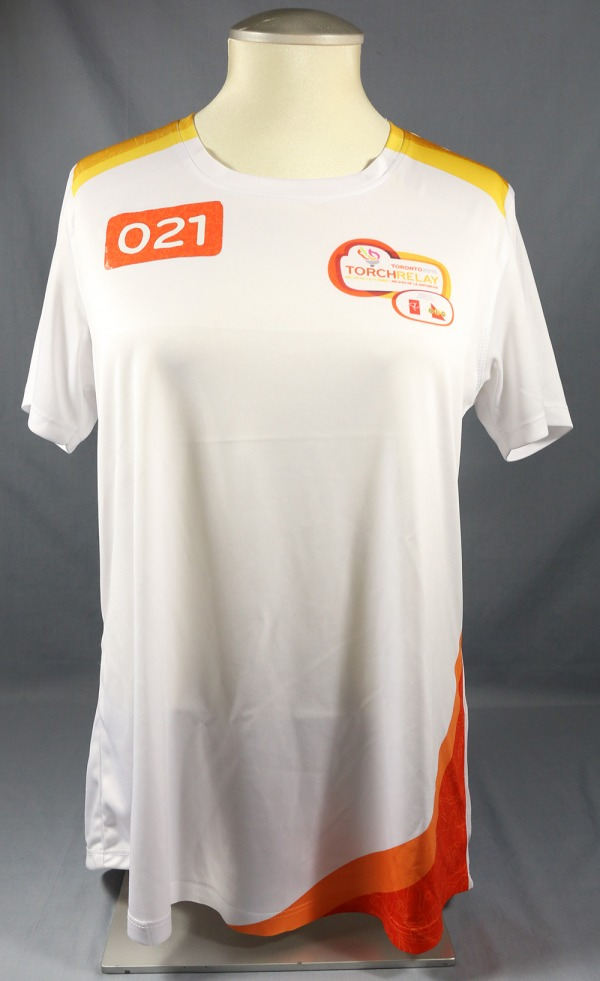 white shirt with orange number 21 on left shoulder