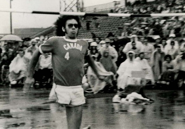 Photograph of Arnold Boldt in high jump event