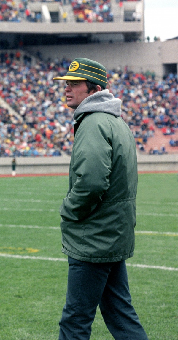 photograph of Hugh Campbell green jacket and hat