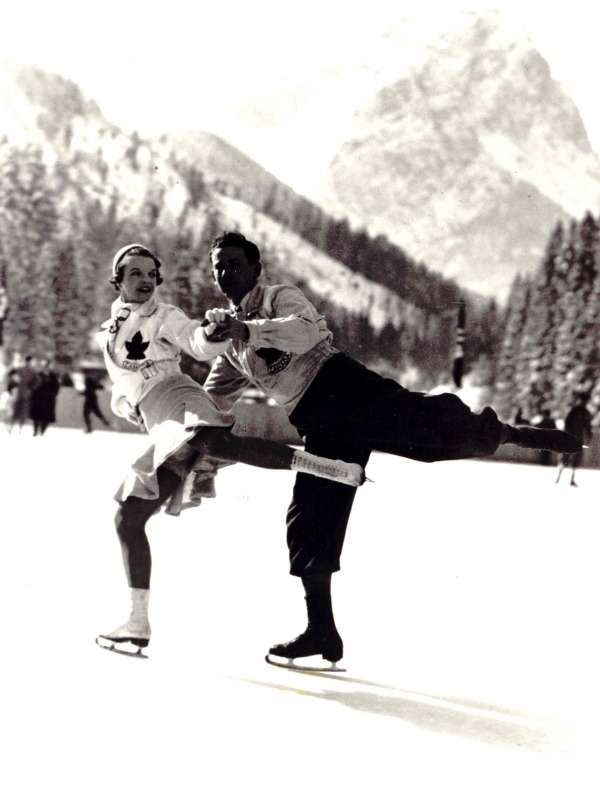 photograph of Louise Bertram and Stewart Reburn competing