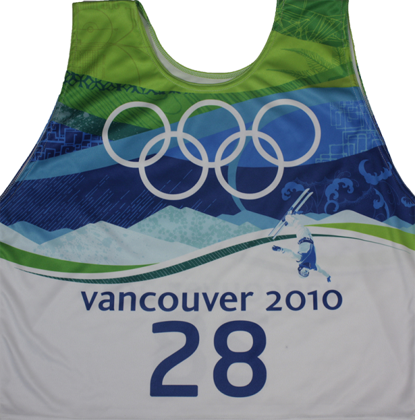 #28 race bib Vancouver for freestyle aerials