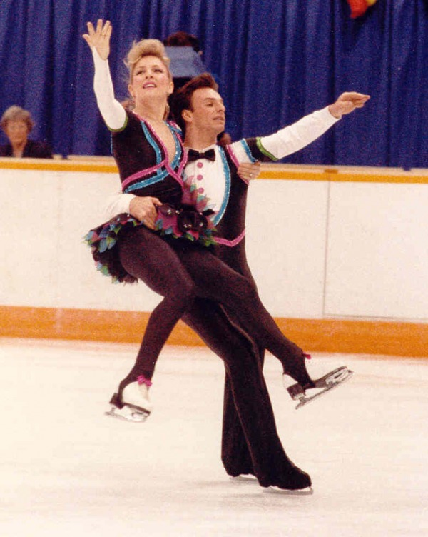 photograph of Tracy Wilson and Rob McCall skating