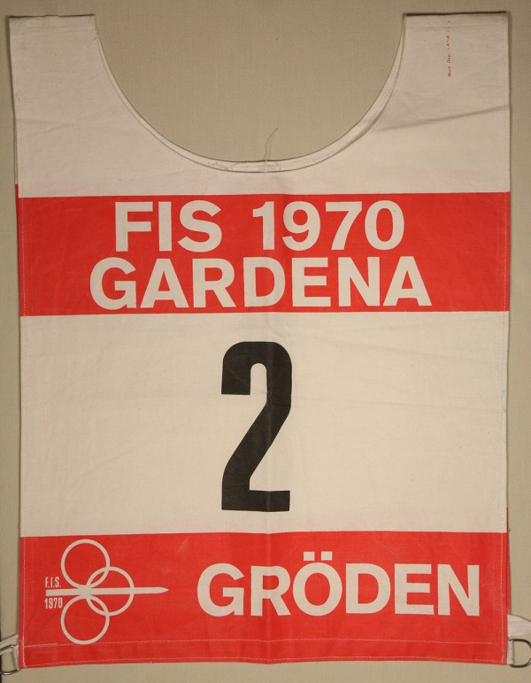 race bib with #2 FIS 1970 Gardena