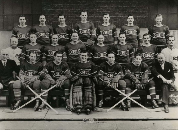 photograph of Montreal Canadiens Hockey Team