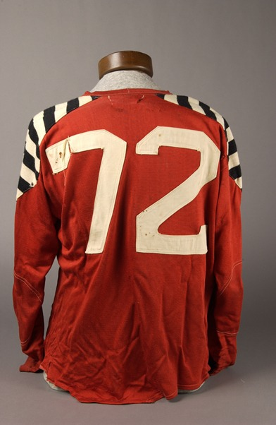 Tony Golab's football jersey with #72
