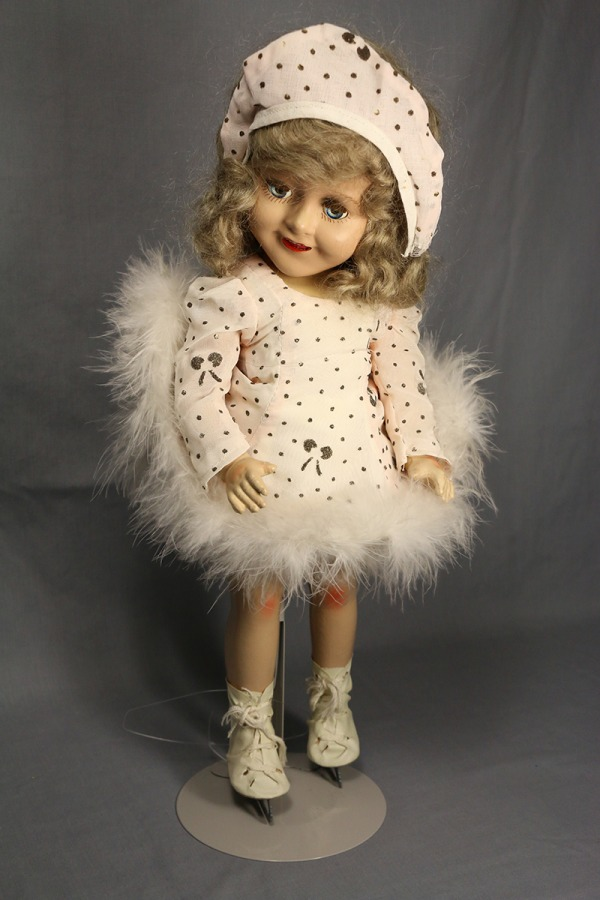 composite Barbara Ann Scott doll wearing skating costume and ice skates