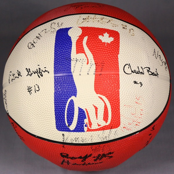 basketball with wheelchair logo and signatures
