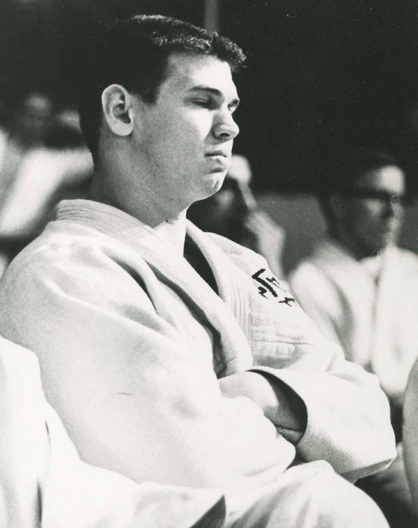Photograph Doug Rogers sitting waiting for match