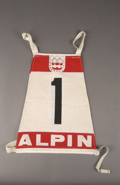 race bib with # 1 ALPIN Innsbruck