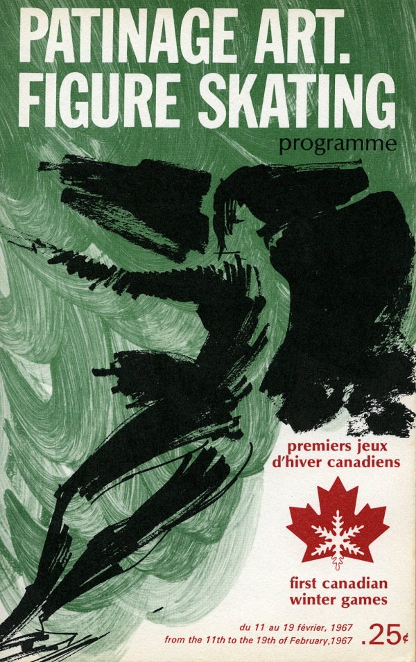 Colour brochure for the figure skating competition