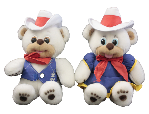 toy polar bears wearing cowboy hats
