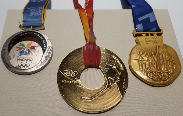 three gold Olympic medals