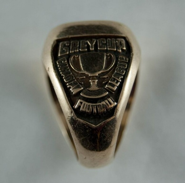 1944 Grey Cup ring from side