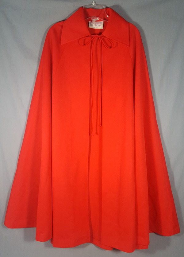 red polyester cape