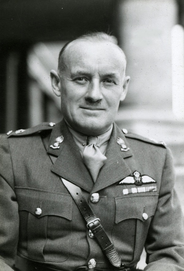 Photograph of Conn Smythe in World War Two military uniform