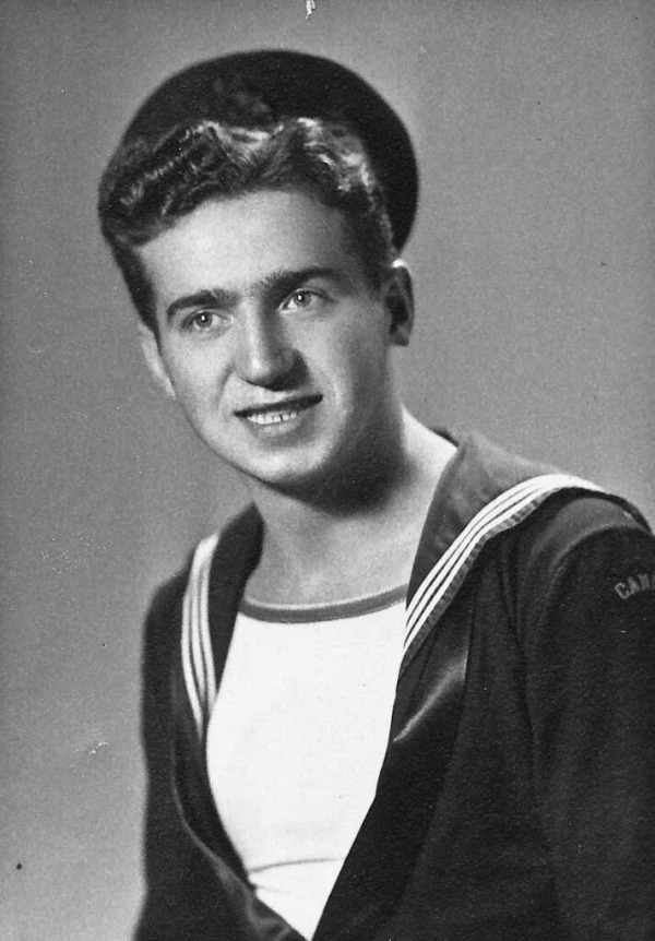 Photograph of John Crncich in naval uniform