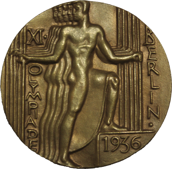 medallion with human figure Berlin 1936