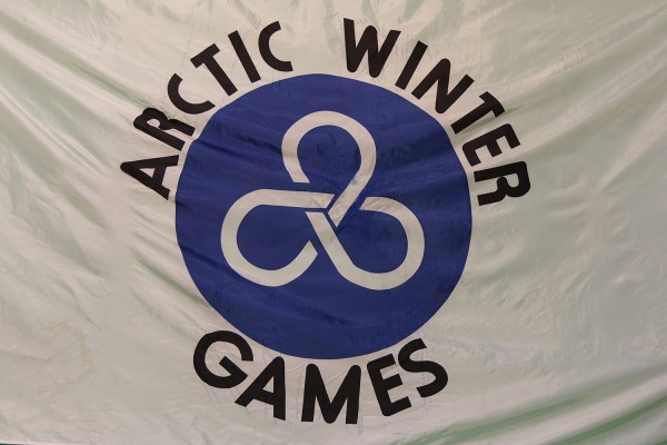 Arctic Winter Games Flag with logo