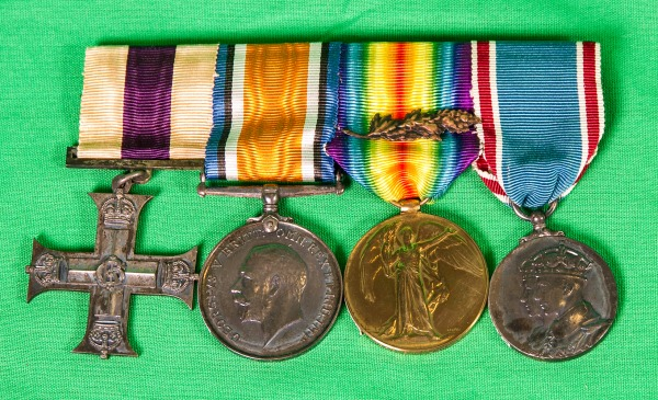 military medal bar with Military Cross of Percy Molson